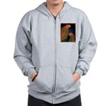 Chantecler Rooster and Hen Zip Hoodie