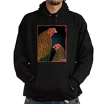Chantecler Rooster and Hen Hoodie (dark)