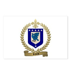 RIVEST Family Crest Postcards (Package of 8)