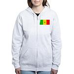 Senegal Blank Flag Women's Zip Hoodie