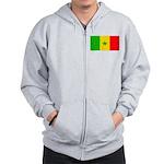 Senegal Blank Flag Zip Hoodie