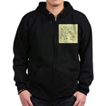 D'Anvers On Canvas Zip Hoodie (dark)