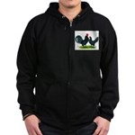 Blue Dutch Chickens Zip Hoodie (dark)