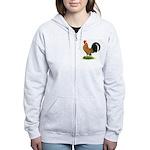 Dutch Bantam Rooster Women's Zip Hoodie
