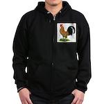Dutch Bantam Rooster Zip Hoodie (dark)