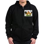 BT Buff Dutch Bantams Zip Hoodie (dark)