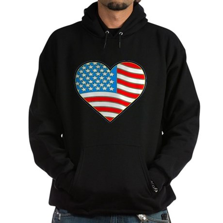 I Love America Flag Hoodie (dark)