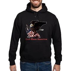 God Bless America Eagle Hoodie (dark)