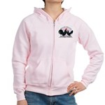 Black Dutch Chickens Women's Zip Hoodie