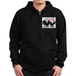 Black Dutch Chickens Zip Hoodie (dark)