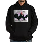 Black Dutch Chickens Hoodie (dark)