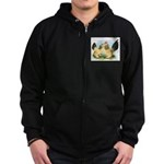 Buff Columbian d'Uccles Zip Hoodie (dark)