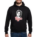 Anti-Hillary: She Scares Me Hoodie (dark)