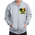 Red Quill Chickens Zip Hoodie