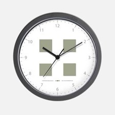 """Four"" in Sage Wall Clock"