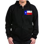 Texas Texan State Flag Zip Hoodie (dark)