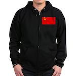 USSR Blank Flag Zip Hoodie (dark)