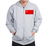 USSR Blank Flag Zip Hoodie