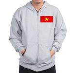 Vietnam Vietnamese Blank Flag Zip Hoodie
