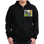 Feather-legged Bantams Zip Hoodie (dark)