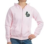 English Trumpeter Blue Women's Zip Hoodie