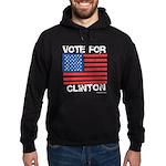 Vote for Clinton Hoodie (dark)