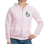 English Trumpeter Silver Women's Zip Hoodie