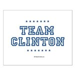 Team Clinton Small Poster