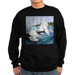 White Trumpeter Pigeons Sweatshirt (dark)