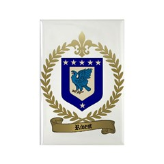 RIVET Family Crest Rectangle Magnet