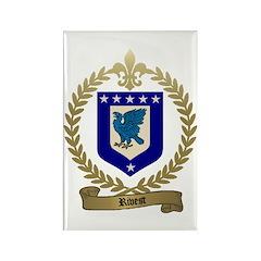 RIVET Family Crest Rectangle Magnet (10 pack)