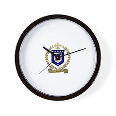 RIVET Family Crest Wall Clock