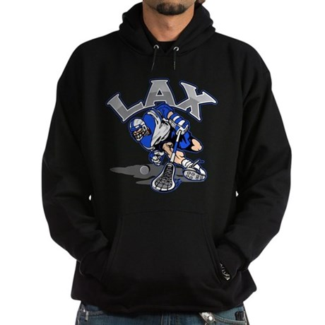 Lacrosse Player In Blue Hoodie (dark)