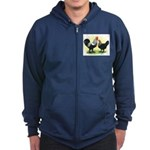 Iowa Blue Chickens Zip Hoodie (dark)