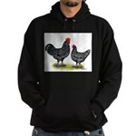 Java Rooster and Hen Hoodie (dark)