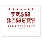 Team Romney Small Poster