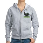 La Fleche Rooster and Hen Women's Zip Hoodie