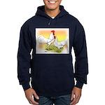 White Leghorn Chickens Hoodie (dark)