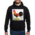 Brown Leghorn Rooster Hoodie (dark)