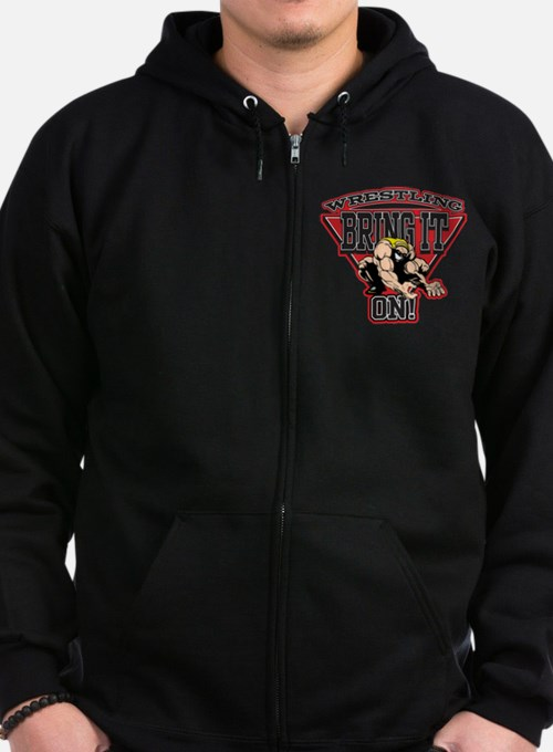 Wrestling Bring It On Zip Hoodie