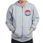 Huckabee Button Zip Hoodie
