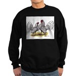 Silver Sebright Bantams Sweatshirt (dark)