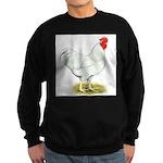 White Rooster Sweatshirt (dark)