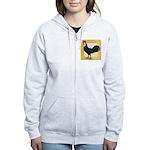 Whitefaced Spanish Rooster Women's Zip Hoodie