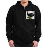 Spanish Cock and Hen Zip Hoodie (dark)