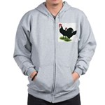 Spanish Cock and Hen Zip Hoodie