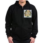 Time For Poultry2 Zip Hoodie (dark)