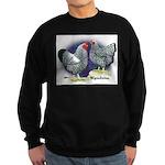 Silver Wyandotte Chickens Sweatshirt (dark)