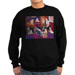 Impressionist Swallows Sweatshirt (dark)