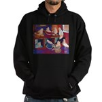 Impressionist Swallows Hoodie (dark)